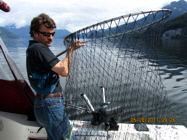 Predator Charters - Skipper Netting Your Catch